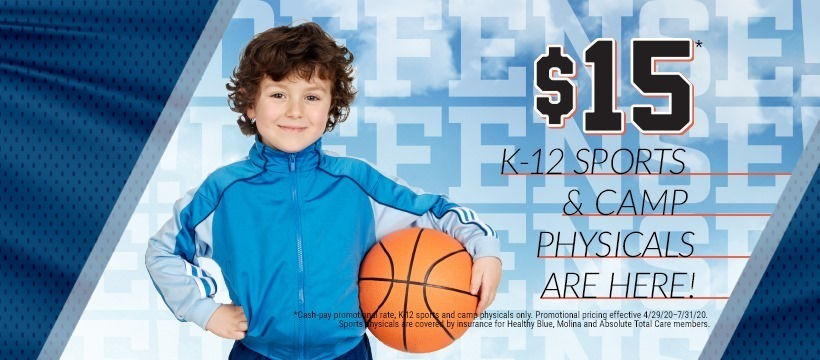 Doctor's Care Offering $15 Sports Physicals