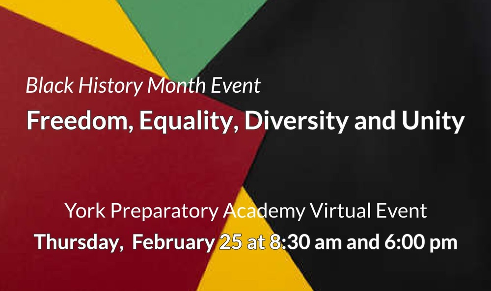 Black History Month Virtual Event- February 25th