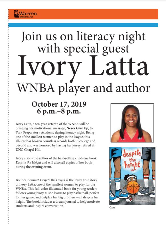 WNBA Star, Ivory Latta Coming to York Prep!