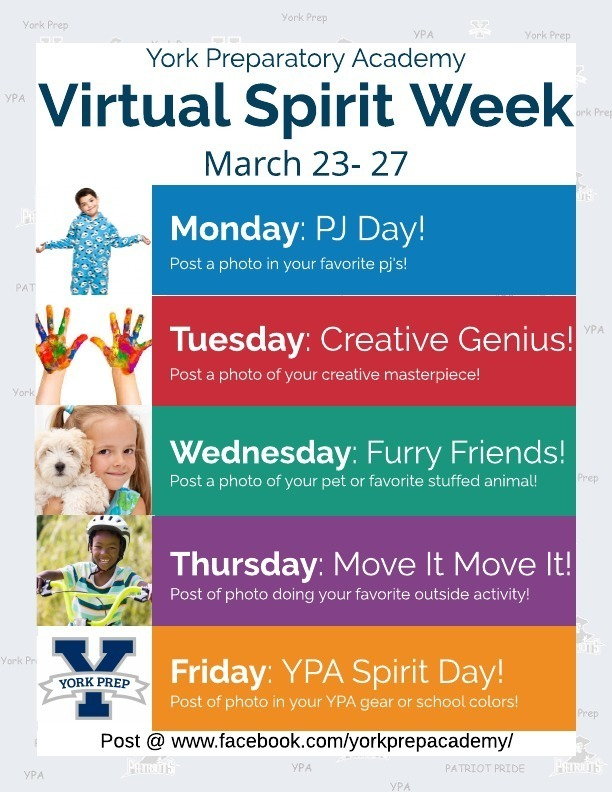 York Prep Virtual Spirit Week March 23-27