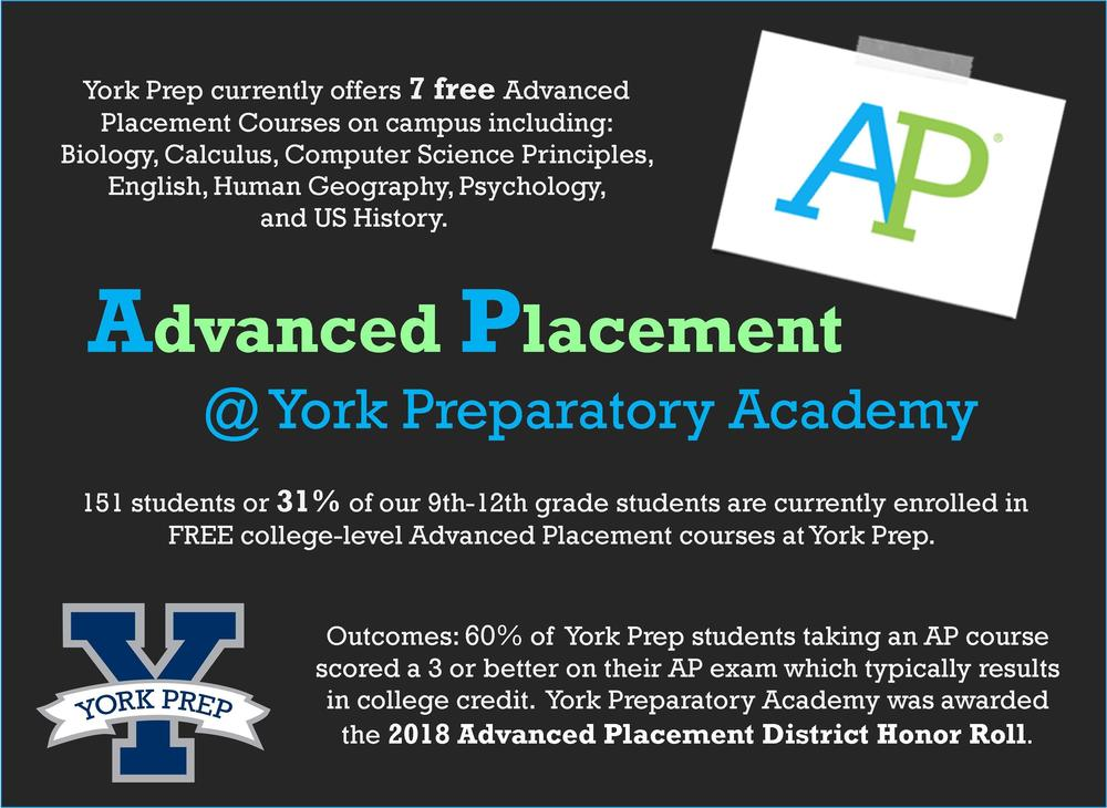 York Prep: 2018 Advanced Placement District Honor Roll