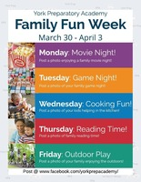 Family Fun Week March 30th - April 3rd