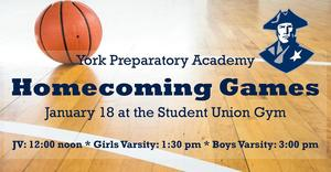 Homecoming Games: January 18