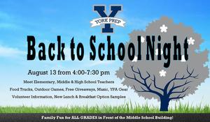 Middle School Back to School Night
