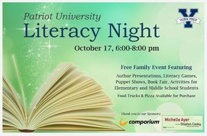 Patriot U: Literacy Night- October 17th