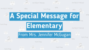 Summer Message from Mrs. McGugan