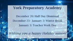 Holiday Break Schedule