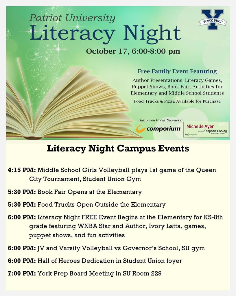 Literacy Night Events